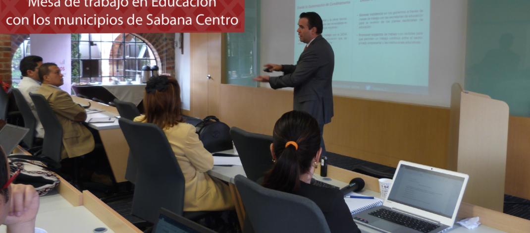 Mesa de trabajo en Educación con los municipios de Sabana Centro