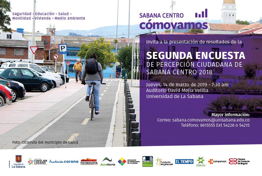 Lanzamiento resultados 2da Encuesta de Percepción Ciudadana de Sabana Centro